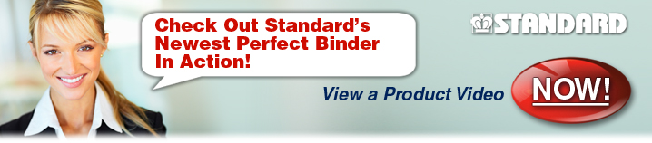 Now, Variable PUR Perfect Binding in a Compact<br /><br /><br /><br /><br /><br /><br /><br /><br /><br />                   Footprint!